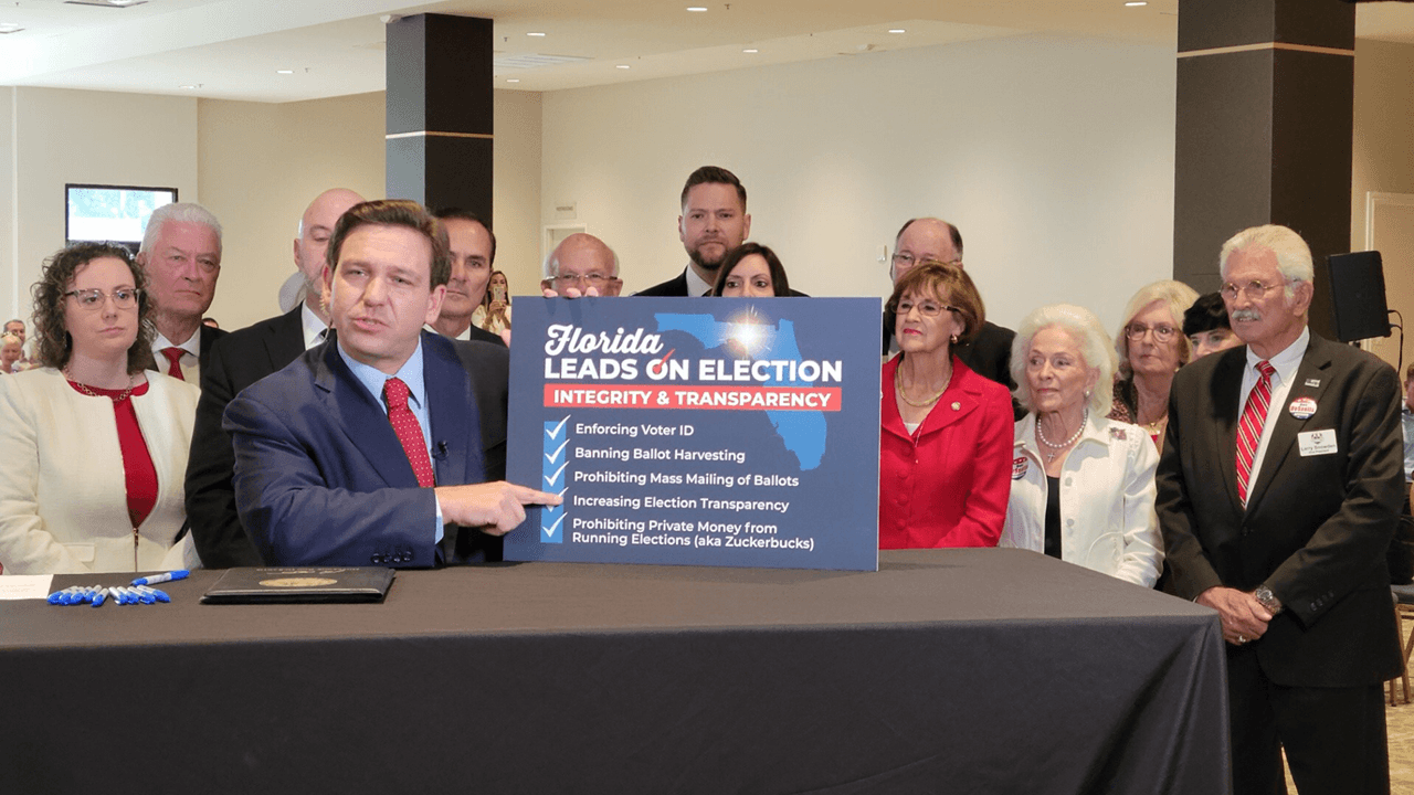 DeSantis says Florida has strongest election integrity laws in the country after new voting bill