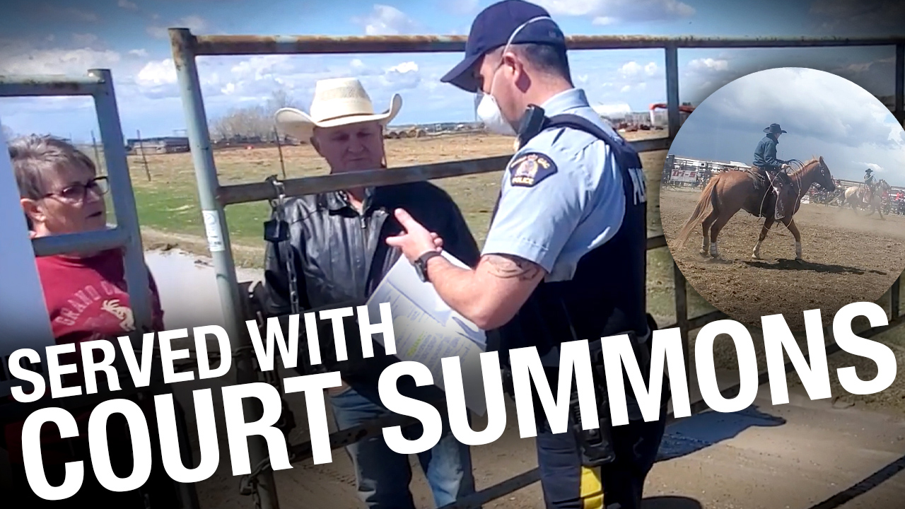 RCMP issues summons to court for Alberta protest rodeo hosts