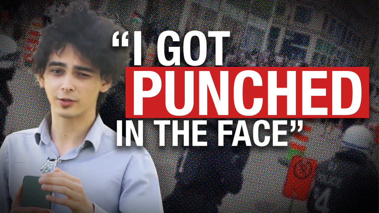Pro-Israel protester punches Rebel journalist during duelling Montreal rallies