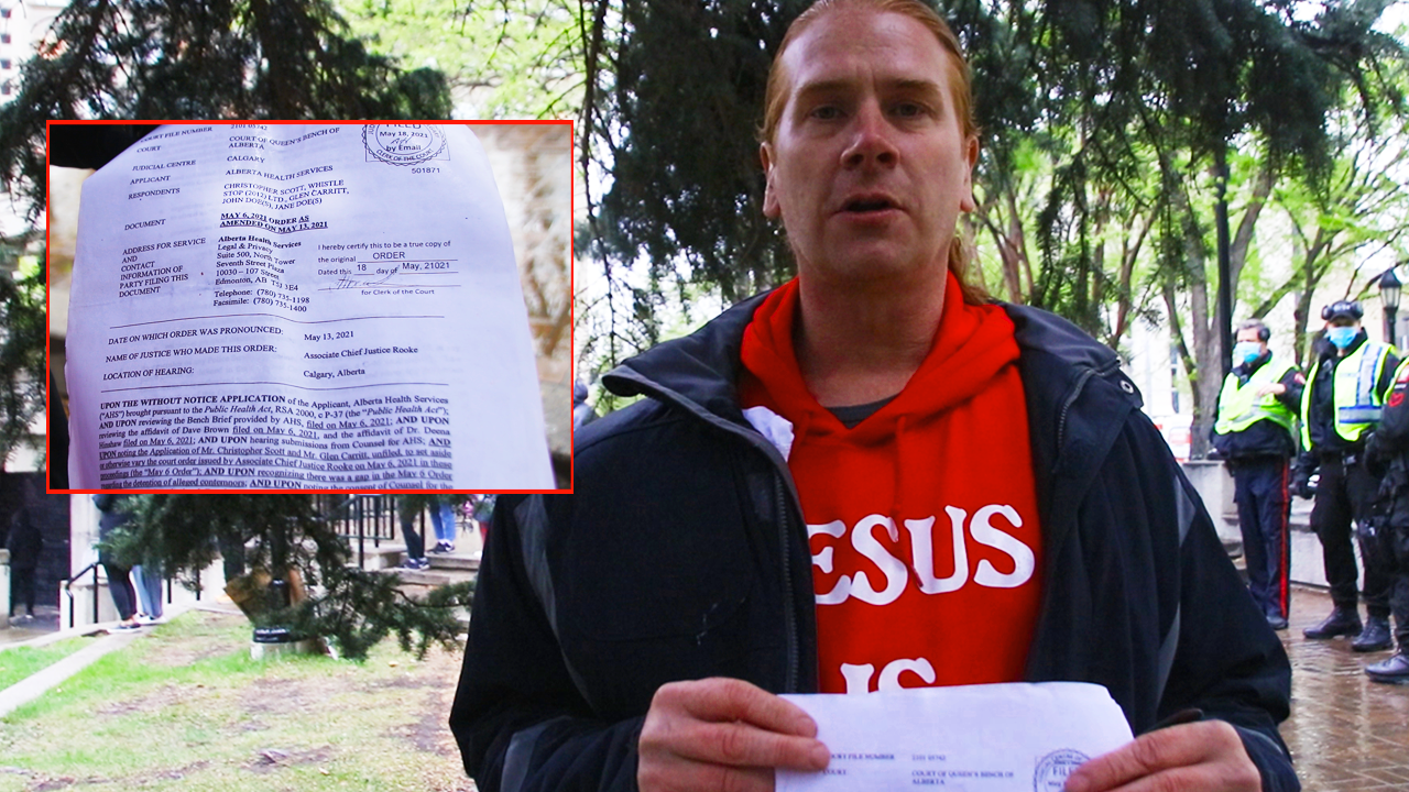 Pastor Peter handed (invalid?) court injunction at protest