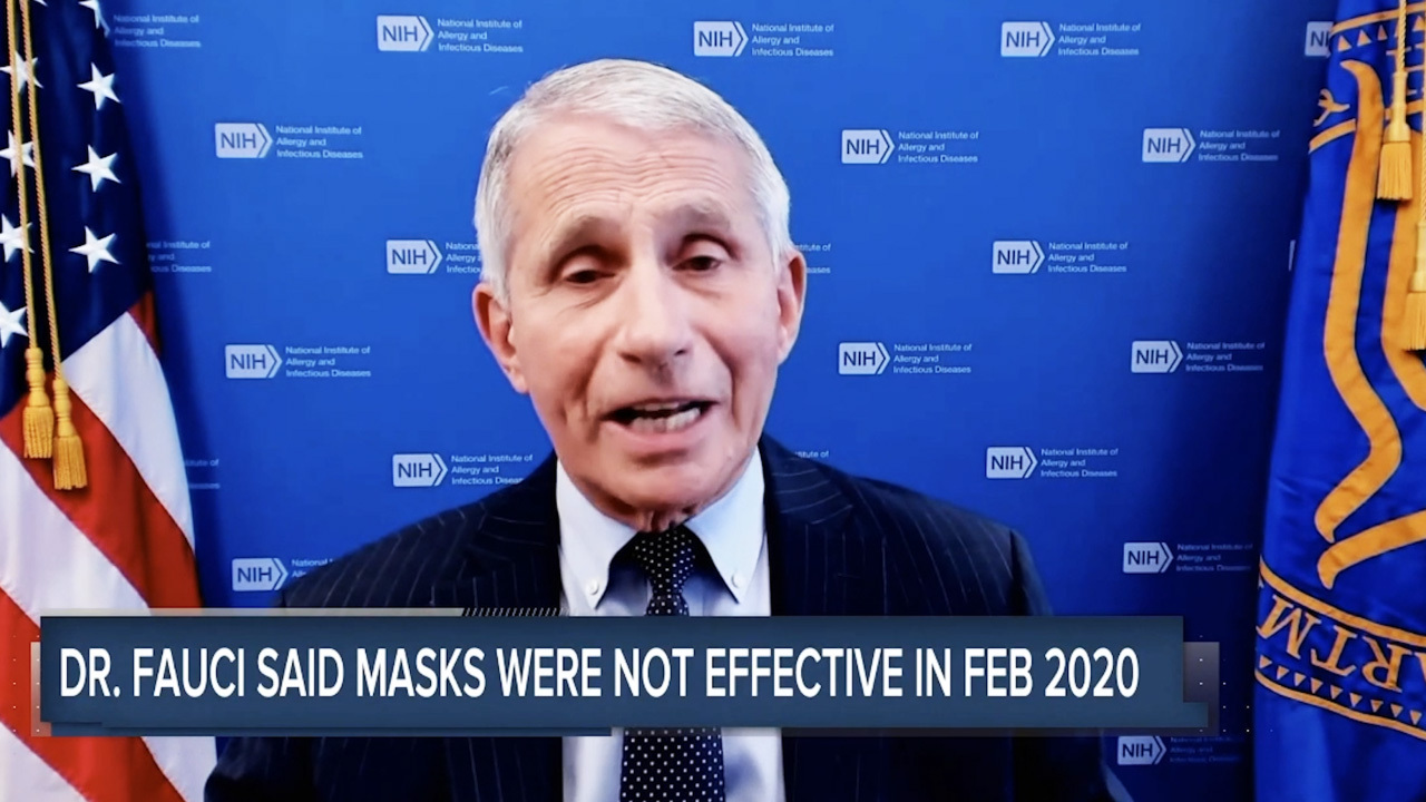 Fauci defends emails saying masks don't work: