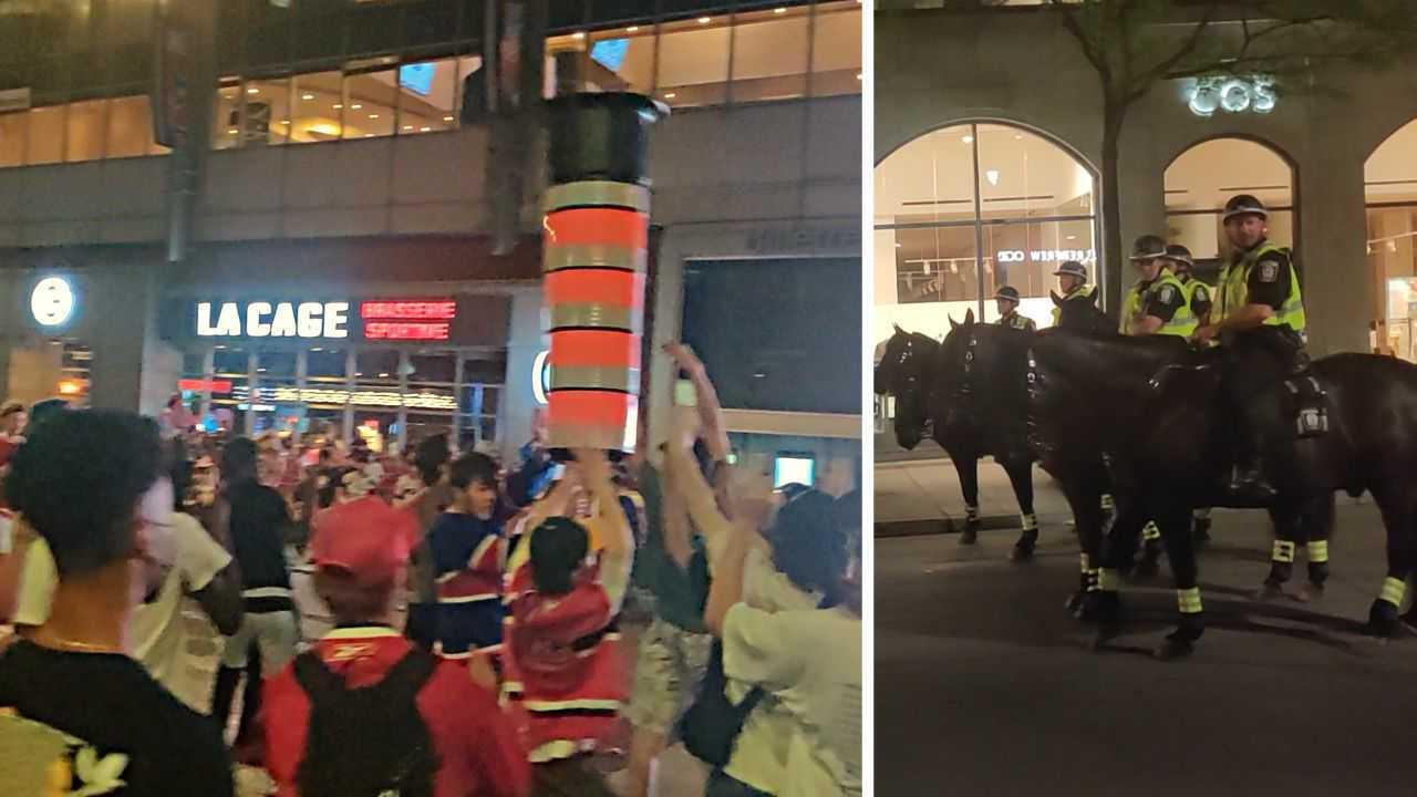 WATCH: Habs fans celebrate sweeping win against Winnipeg Jets in Montreal
