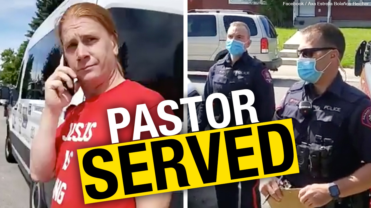 """BREAKING: Pastor Peter Reicher served by police: """"Canada has become communist"""""""