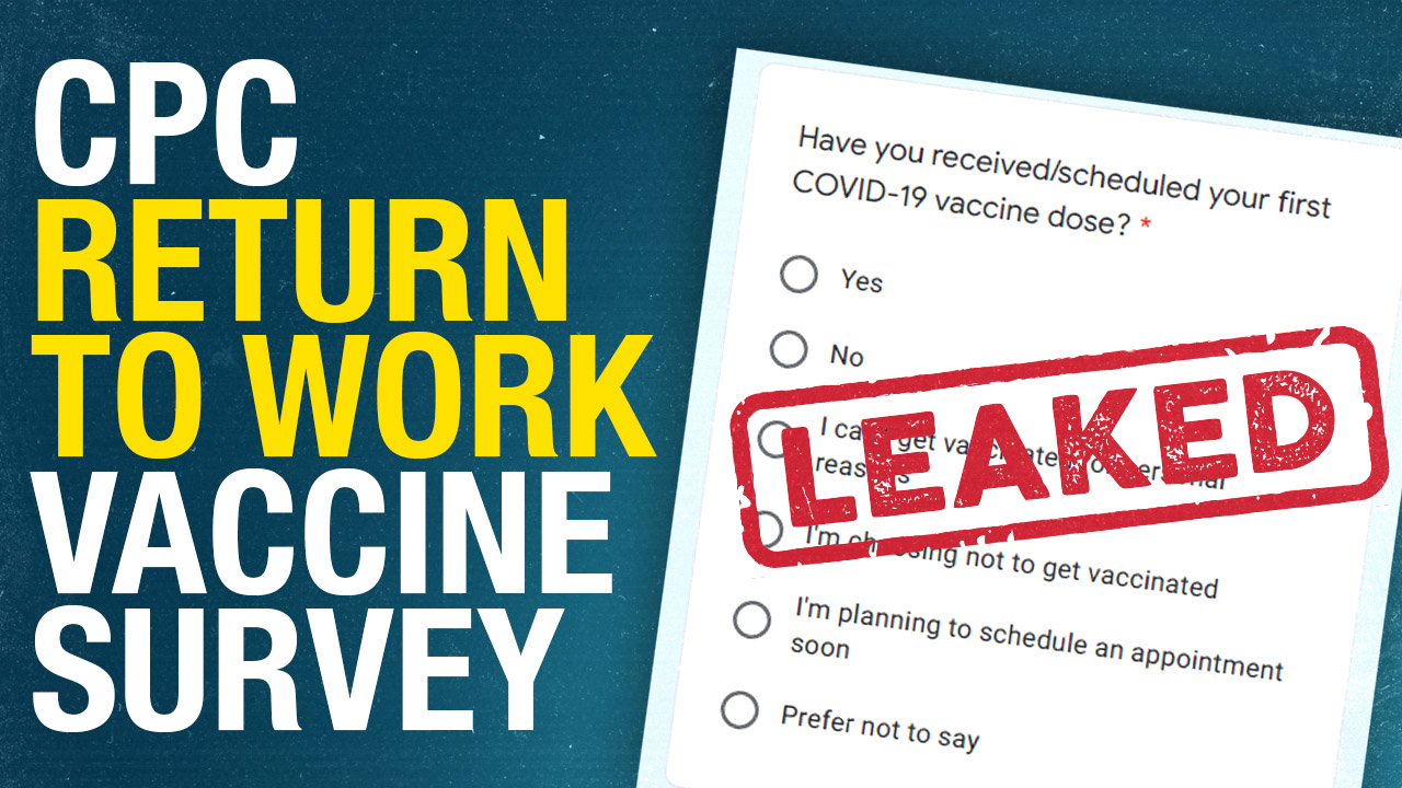 LEAK: Conservative Party asking employees about vax status, plans