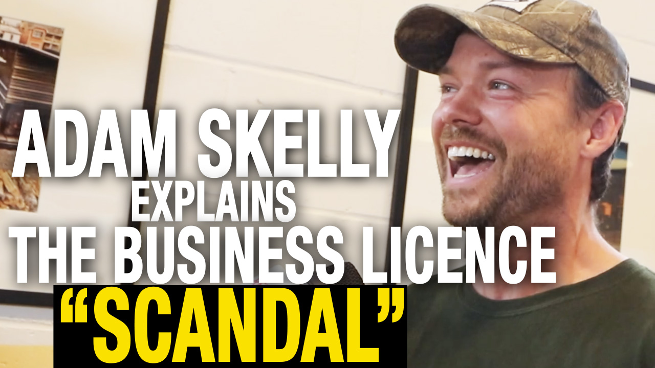 Adam Skelly addresses claims he was operating without business licence
