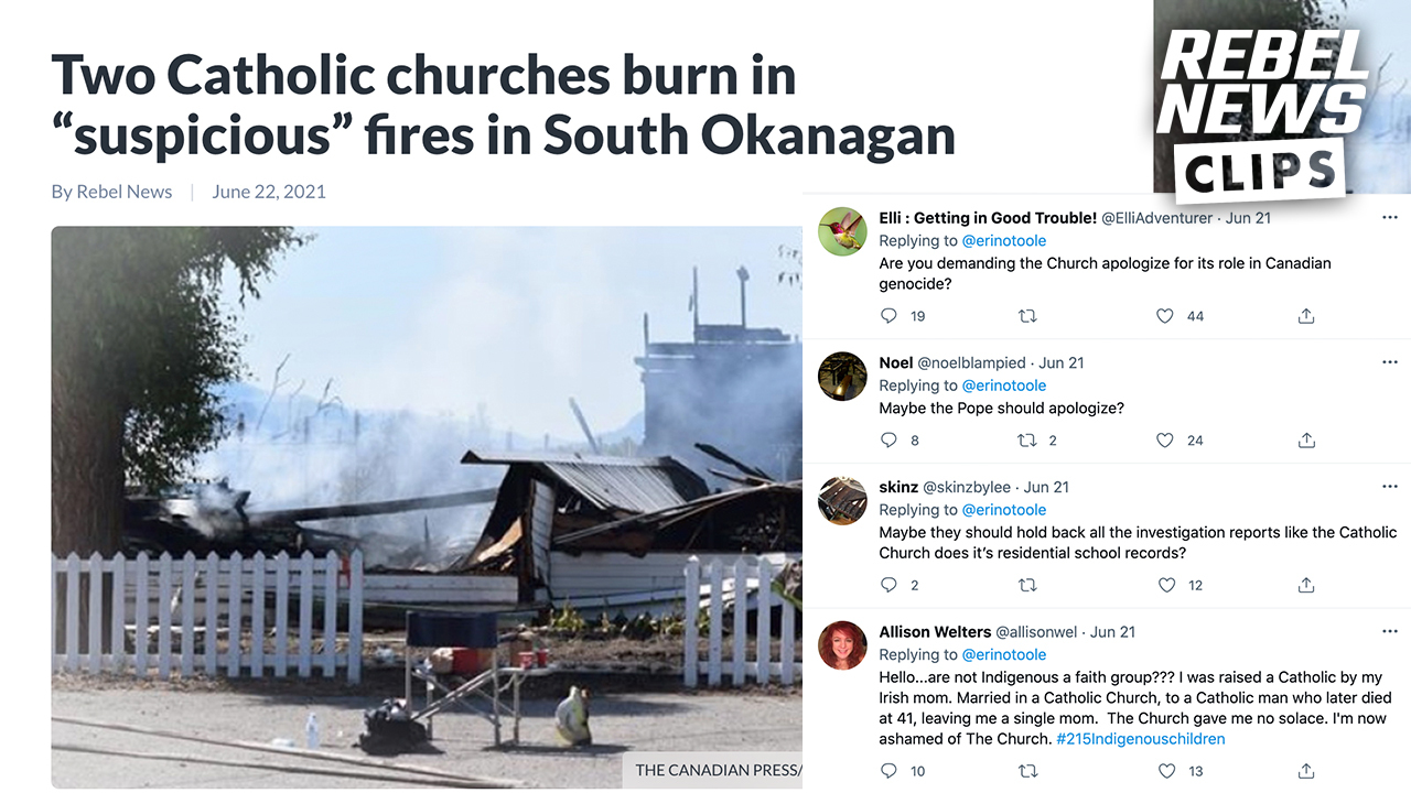 'The churches had it coming': Commenters after suspicious church fires in B.C.
