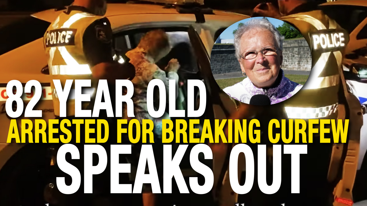 """""""Wake up before it's too late"""" says 82 year old arrested for protesting Quebec lockdown"""