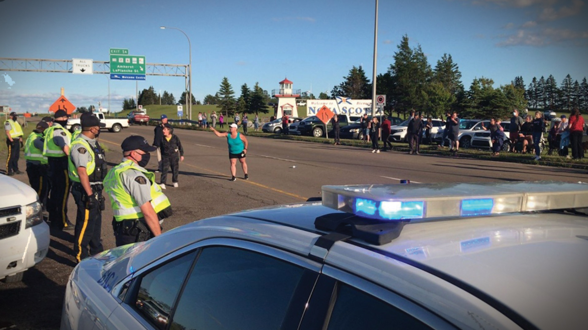 NS/NB border reopens with arrests, MLA who called for highway shutdown kicked from PC caucus