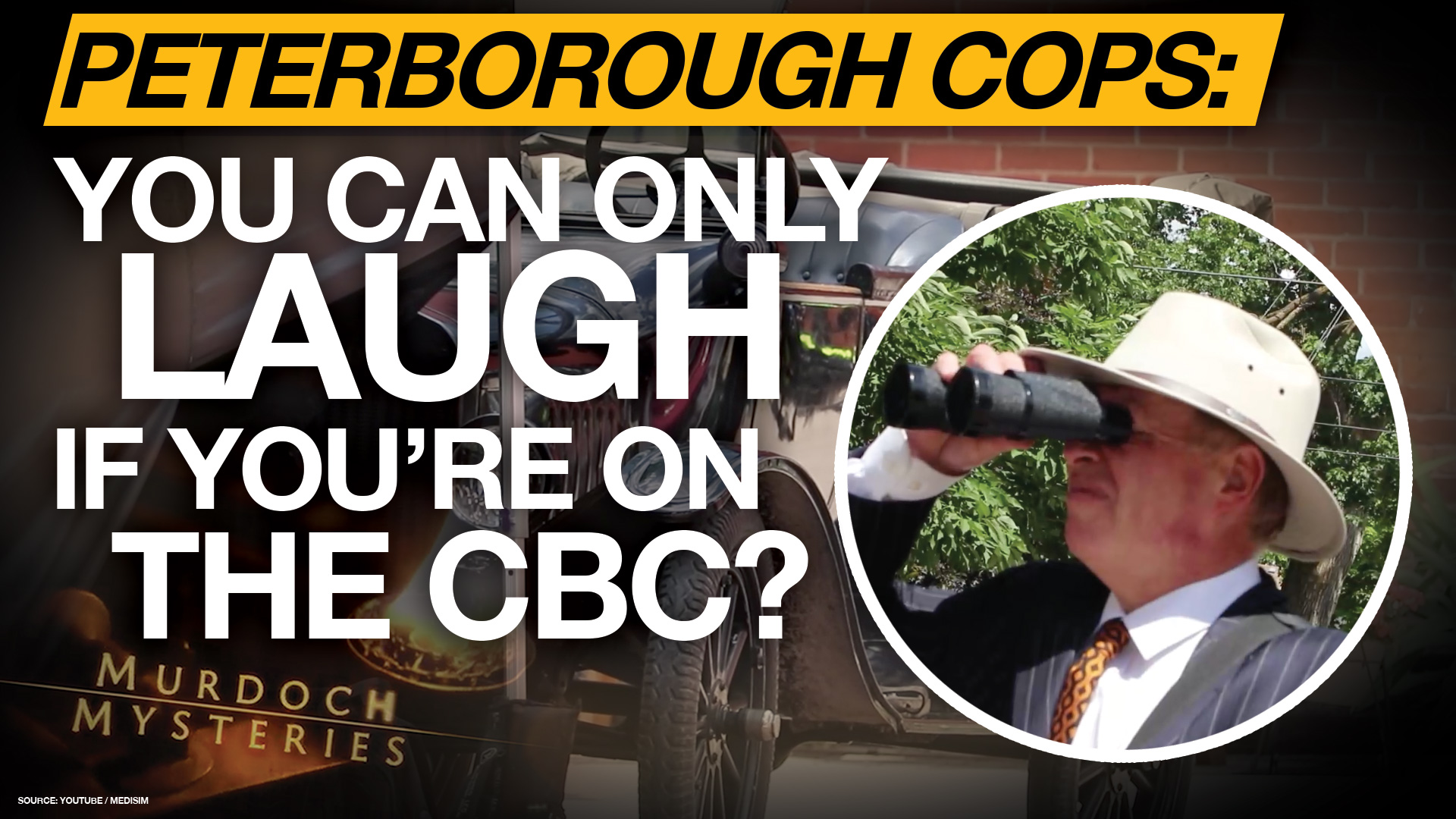 Peterborough police won't ticket cast & crew of CBC show for handshakes, laughter