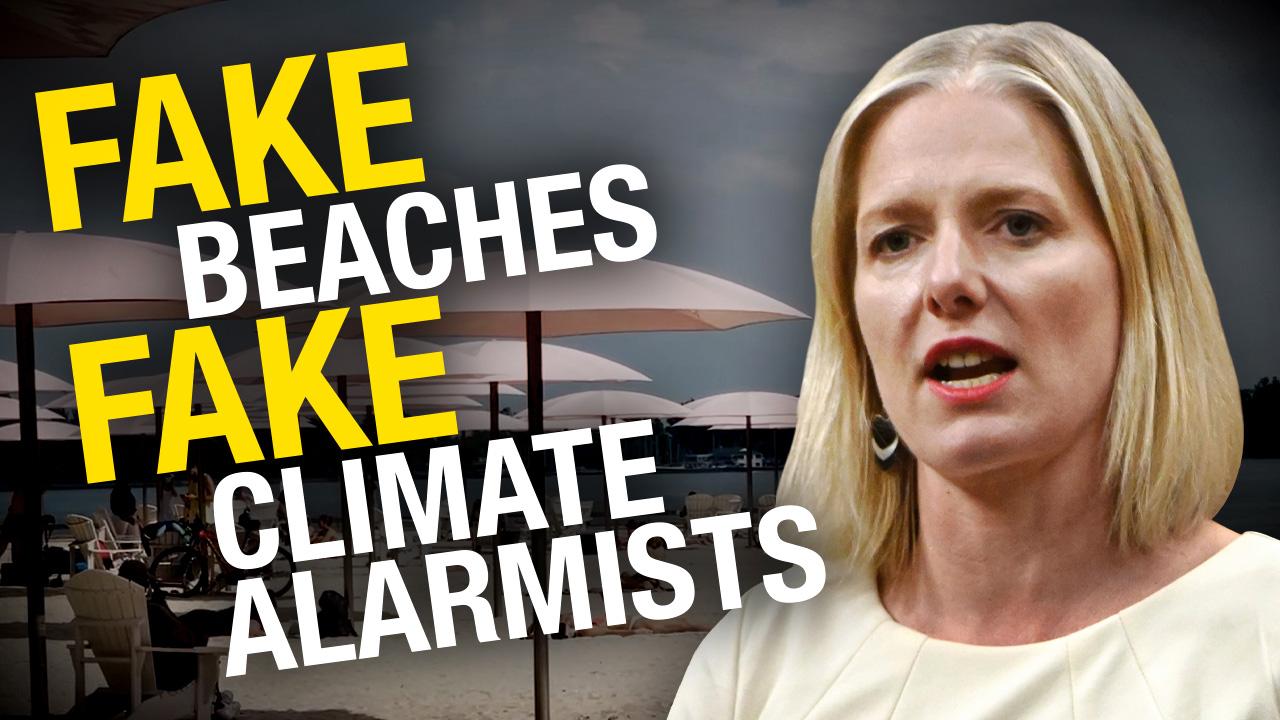 Climate Barbie bids adieu, but not before applauding a Toronto beach that isn't much of a beach