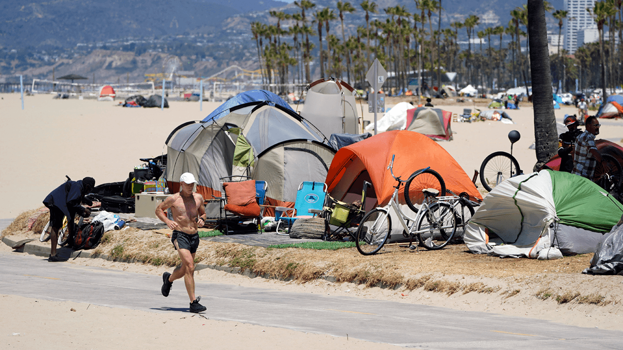 LA city officials attack county sheriff for pledging to clear Venice Beach boardwalk of homeless camps by July 4