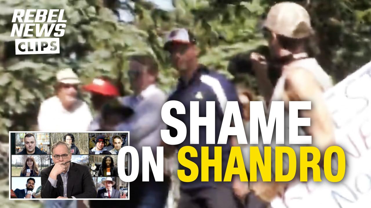 "EZRA REACTS: Hecklers chant ""Lock Shandro up!"" at Alberta Health Minister"