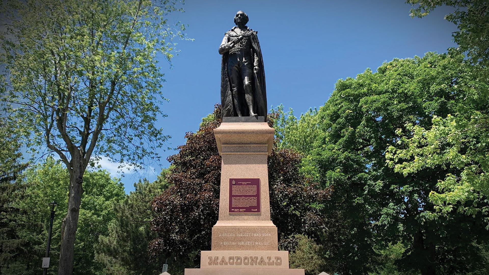 Sir John A. Macdonald gravesite vandalized on Canada Day