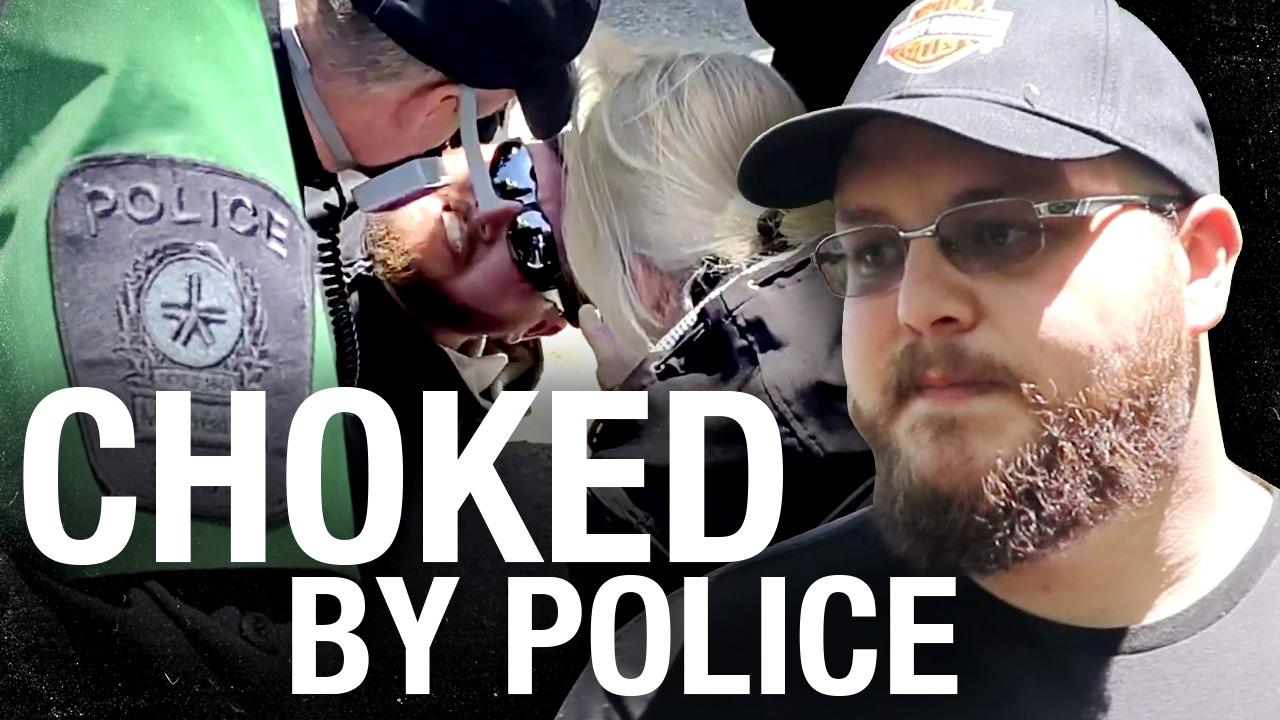 Montreal police CHOKE protester during violent arrest