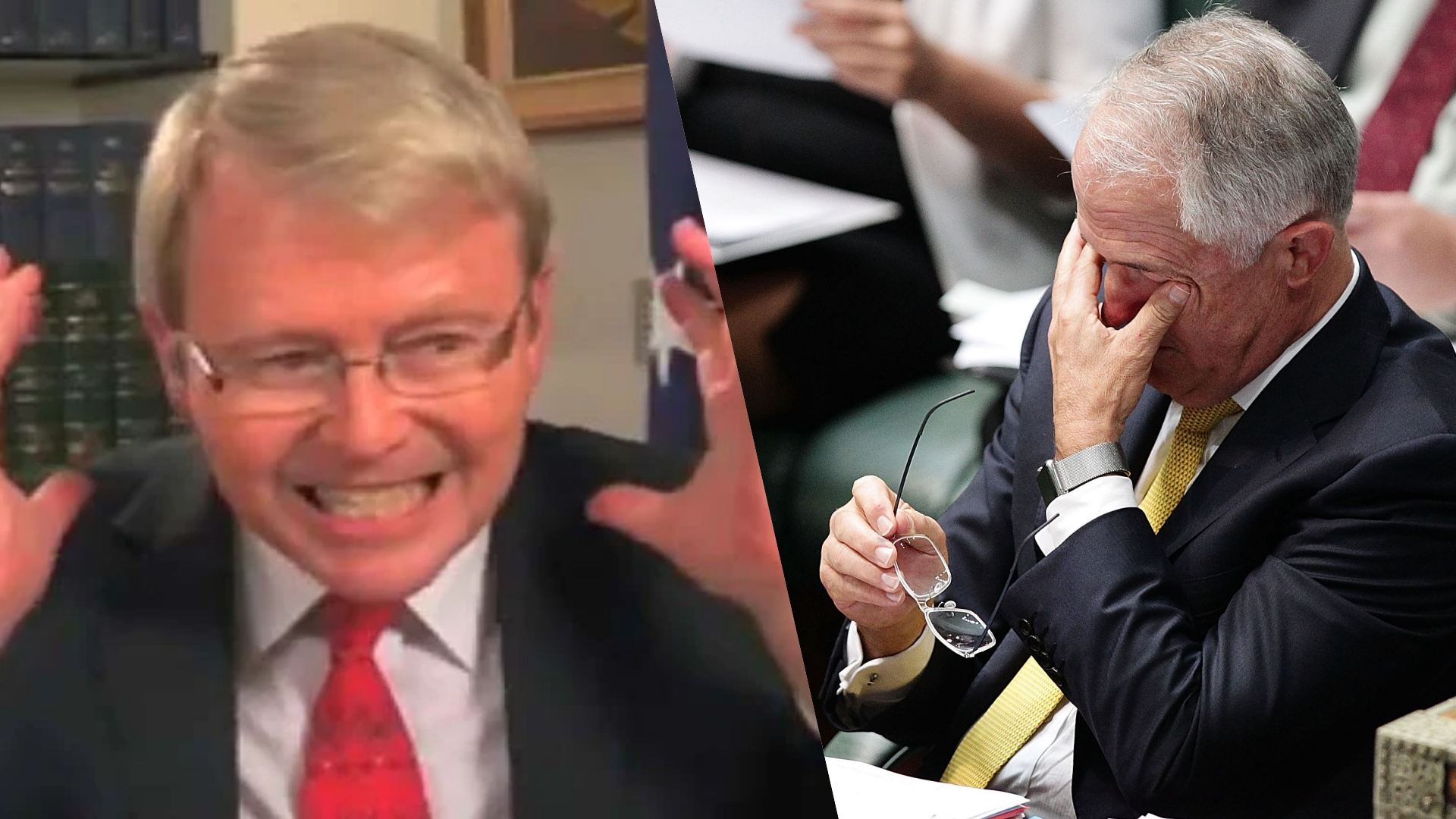 Rudd and Turnbull allies in fake news