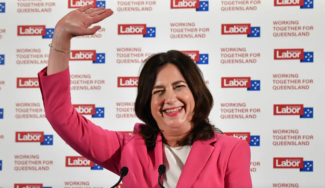 Palaszczuk lands in Tokyo to secure unopposed Olympic bid