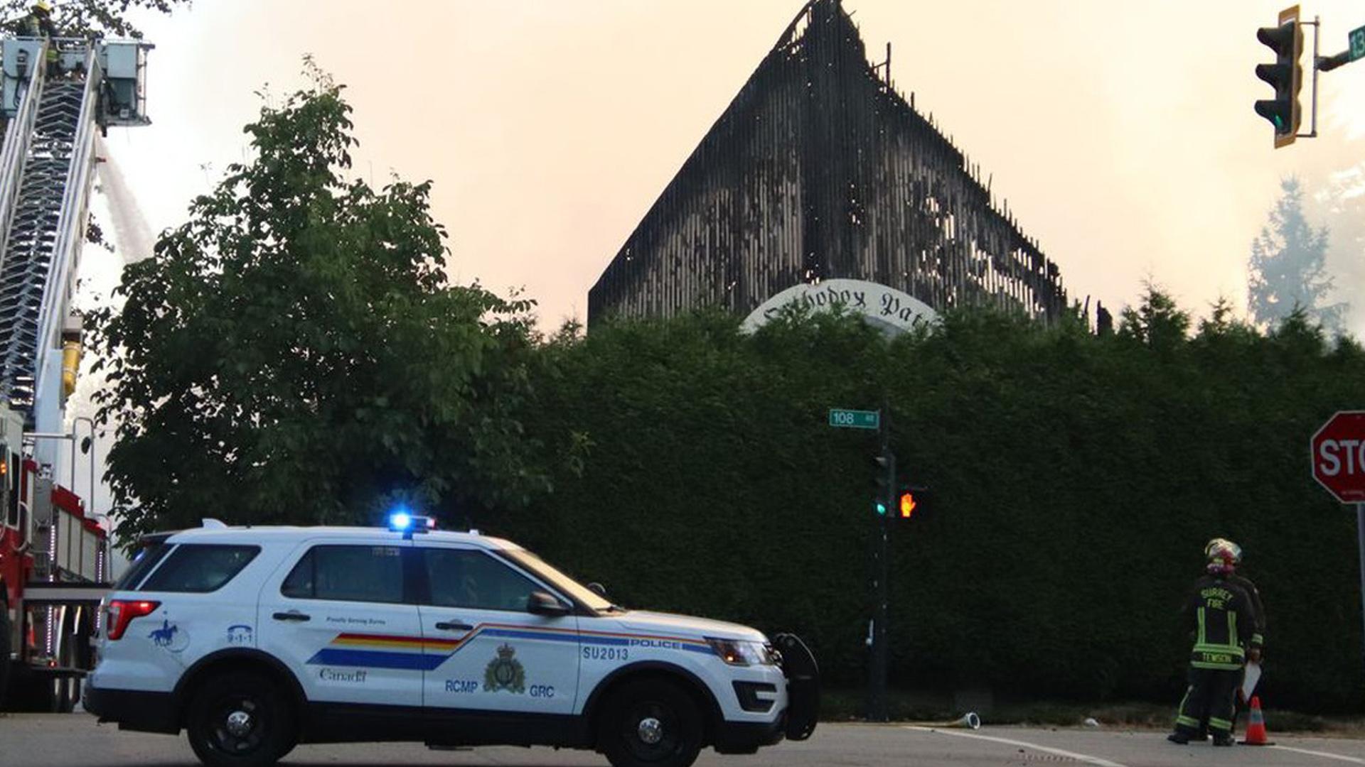 Morning fire destroys St. George Coptic Orthodox Church in Surrey