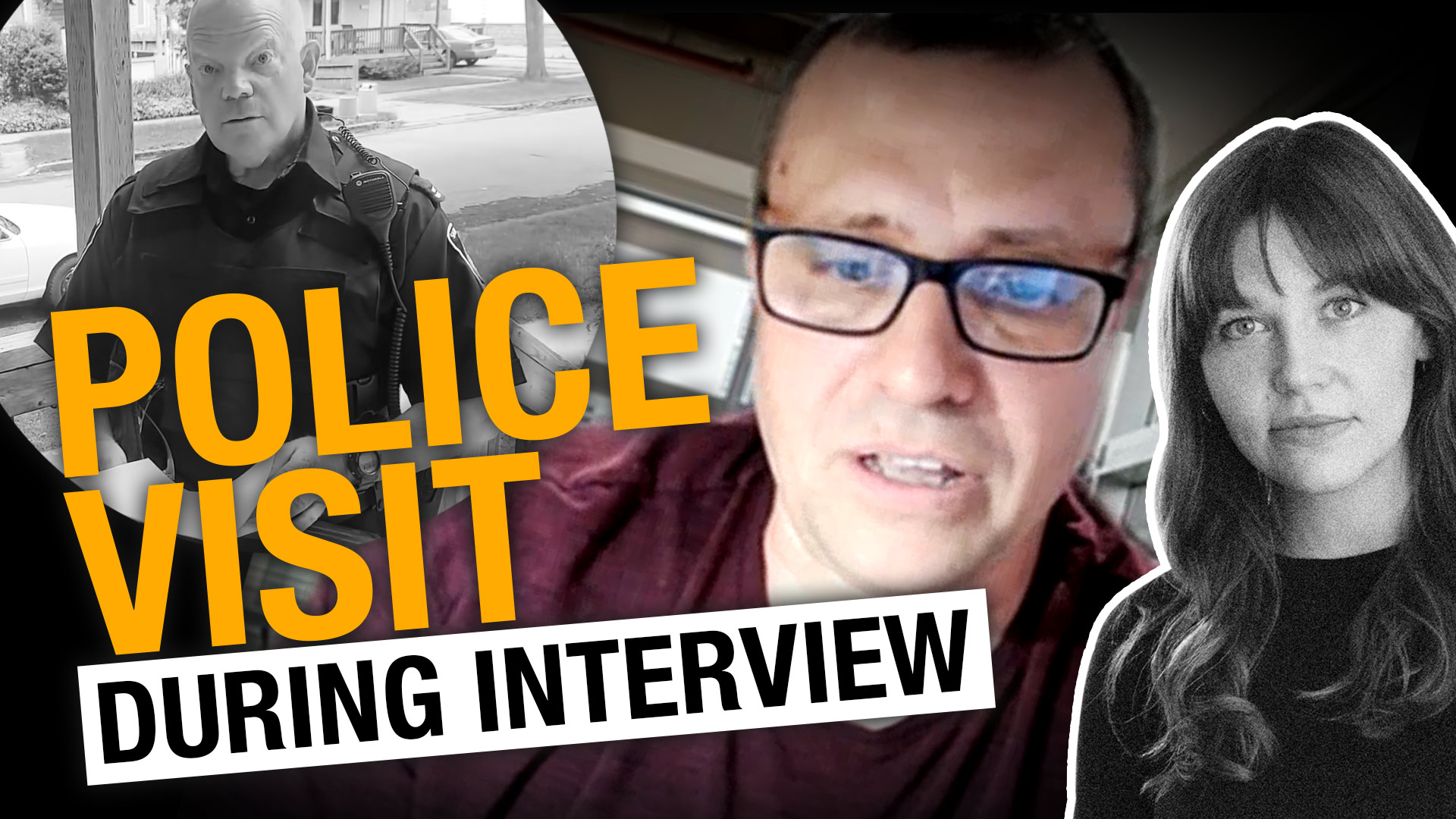 Cop shows up during interview! Indie journo in hot water after covering anti-lockdown rally