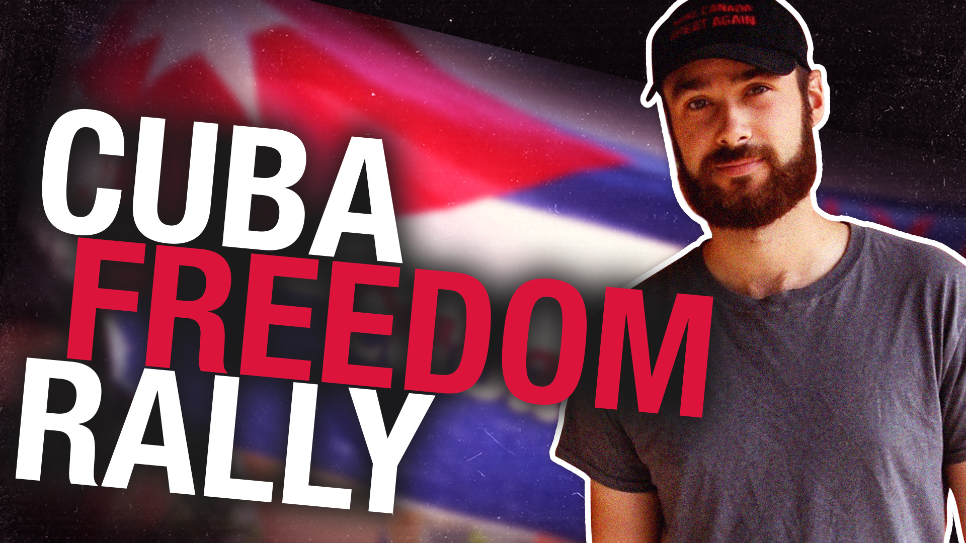 """Cubans protest in Calgary: """"What we're doing right now is illegal in Cuba"""""""