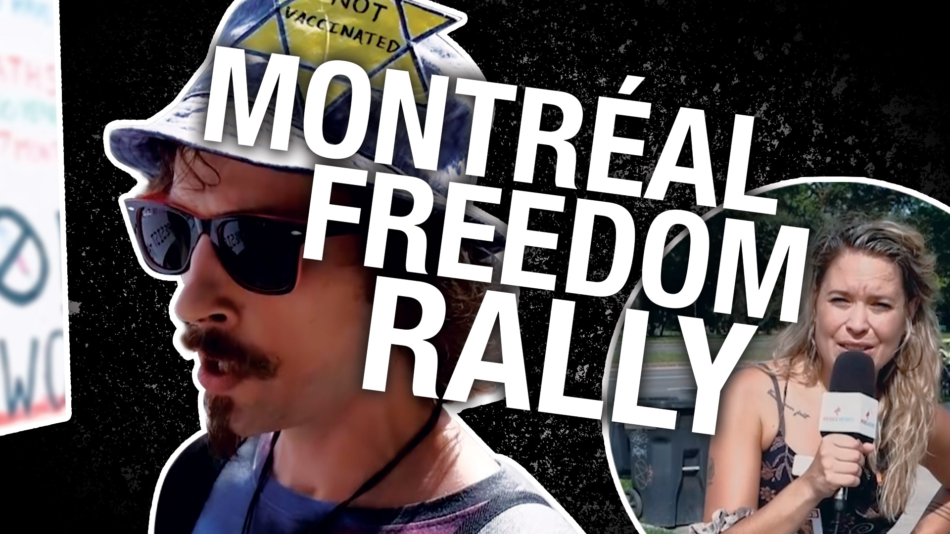 """""""Discrimination"""": Montreal protesters say no vax pass"""