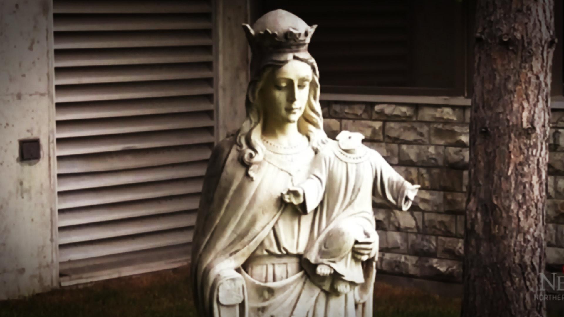 Baby Jesus statue beheaded (again) at Catholic church in Sudbury