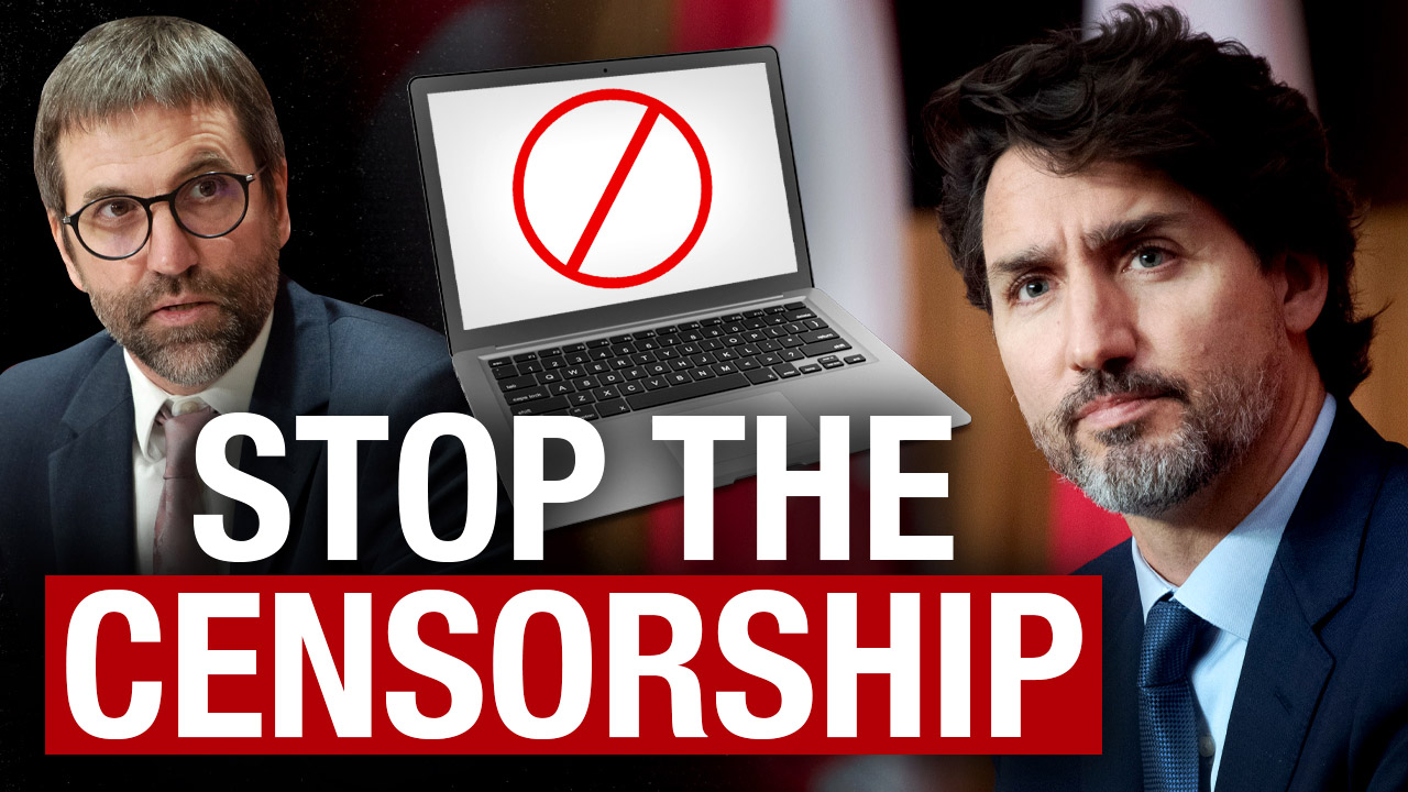 STOP THE CENSORSHIP: The Trudeau Liberals are trying to pass a bill to control the internet