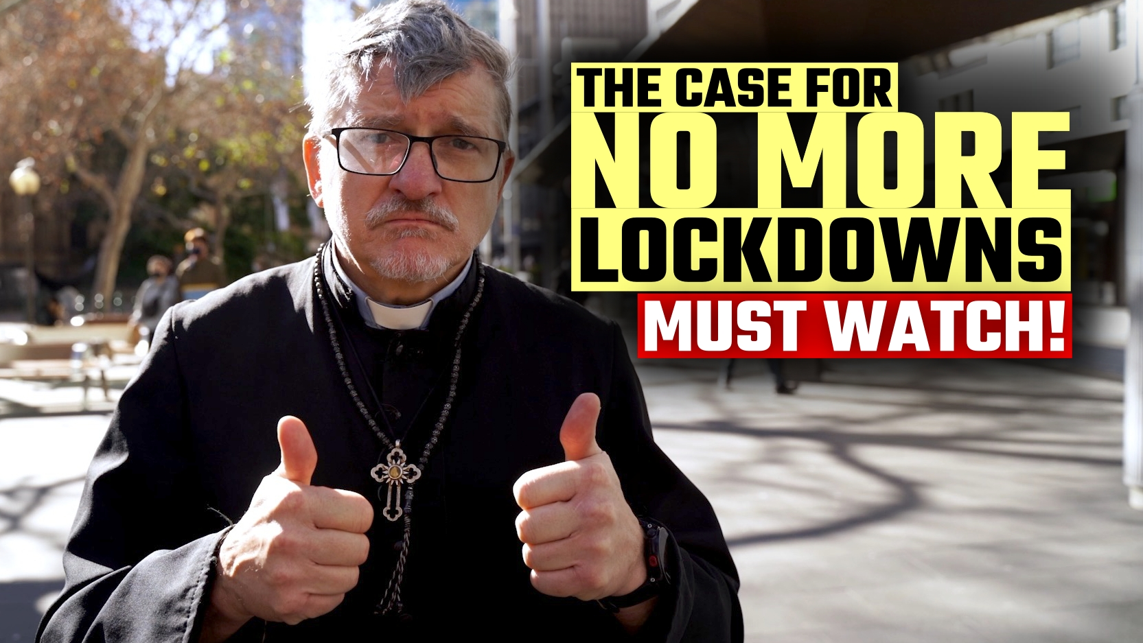 WATCH: Aussie priest makes a perfect case AGAINST lockdowns at Sydney protest