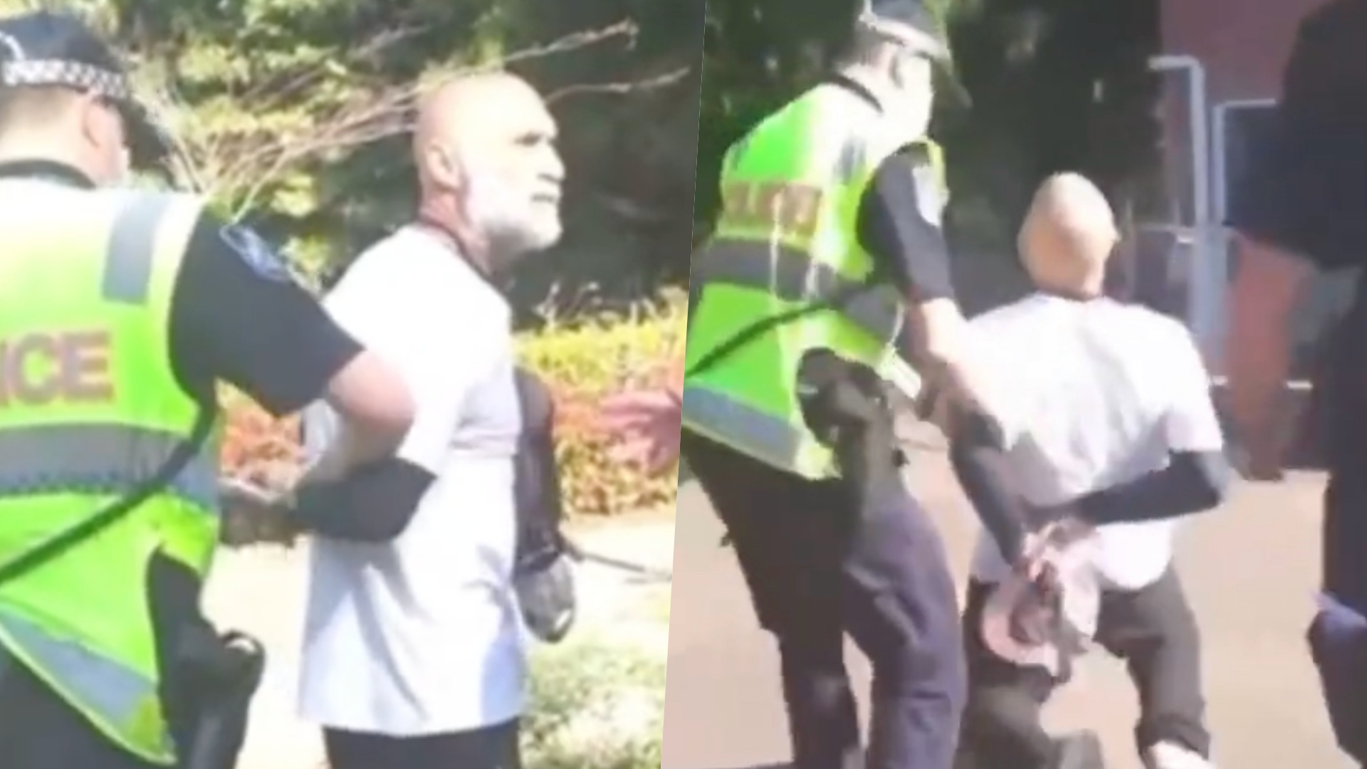 Man suffers suspected heart attack while under arrest for no mask
