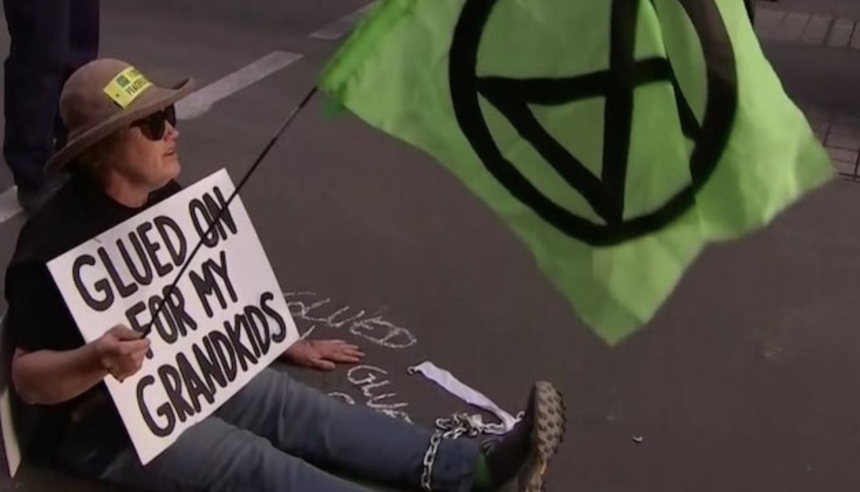 Extinction Rebellion haven't run out of glue