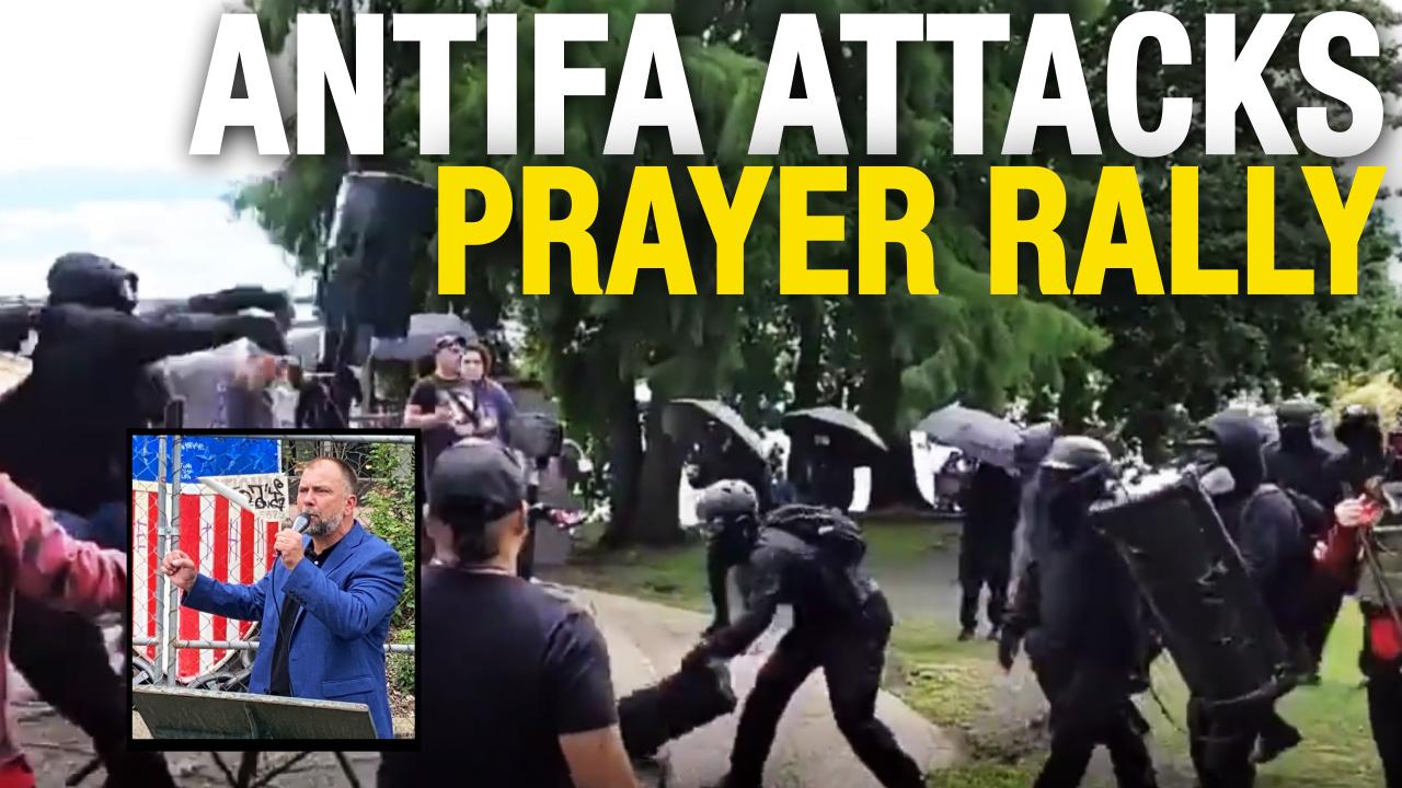 Antifa ATTACKS Pastor Artur Pawlowski's prayer rally in Portland
