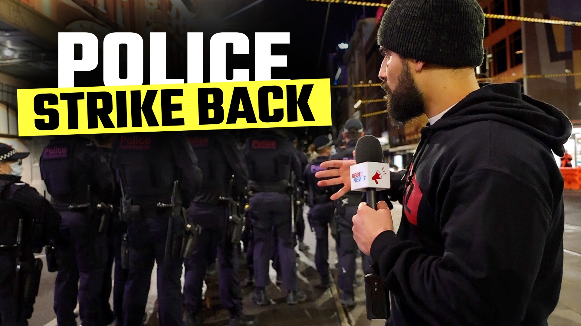 WATCH: This is how SCARED police are of freedom protests in Melbourne