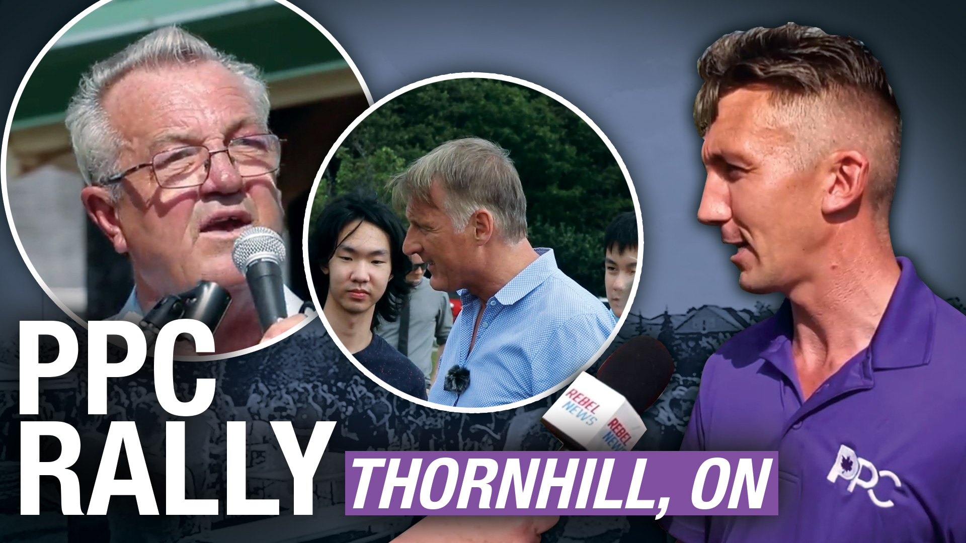 """""""The Conservatives are not conservative anymore"""" PPC holds rally in Thornhill, ON"""