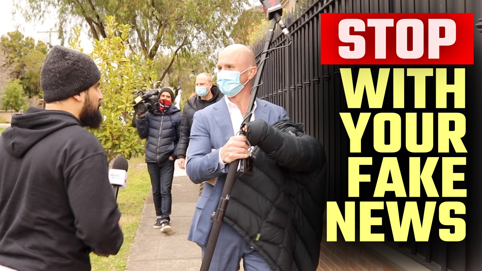 WATCH: Avi Yemini CONFRONTS the media as they doorstep couple's private home