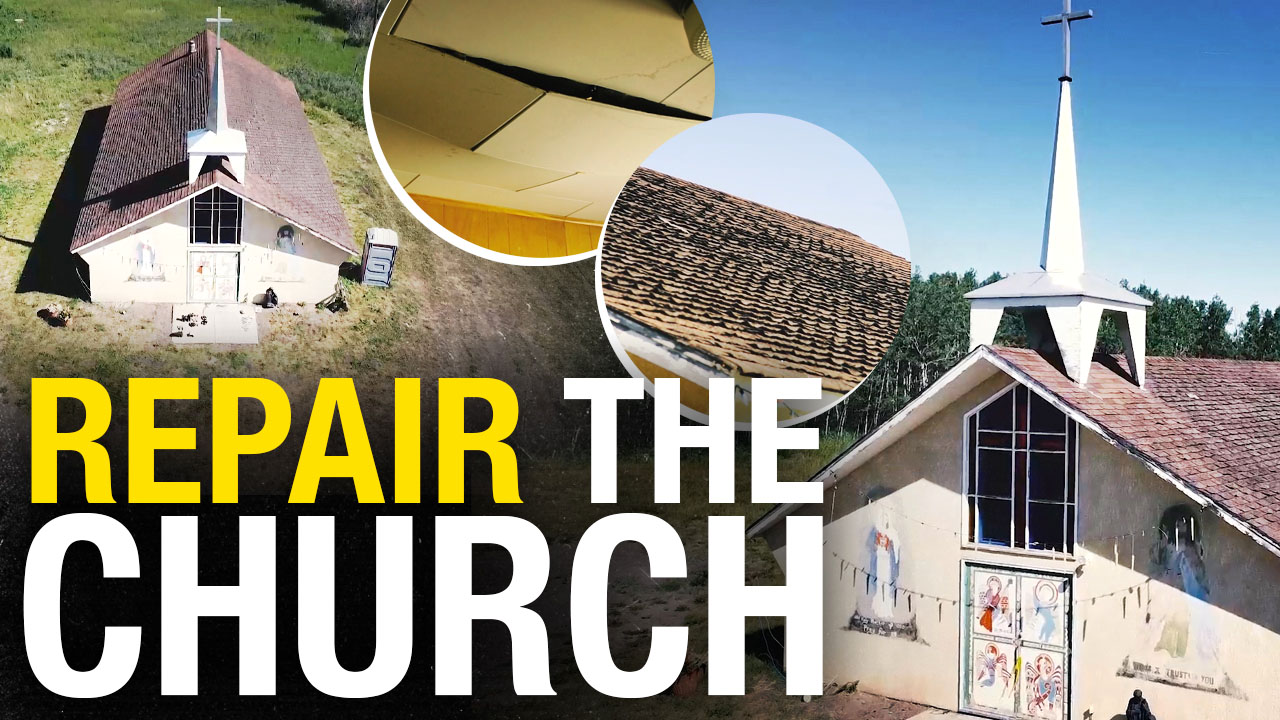 """""""We never had the money to renovate"""": Help repair the church roof on Tsuut'ina land"""