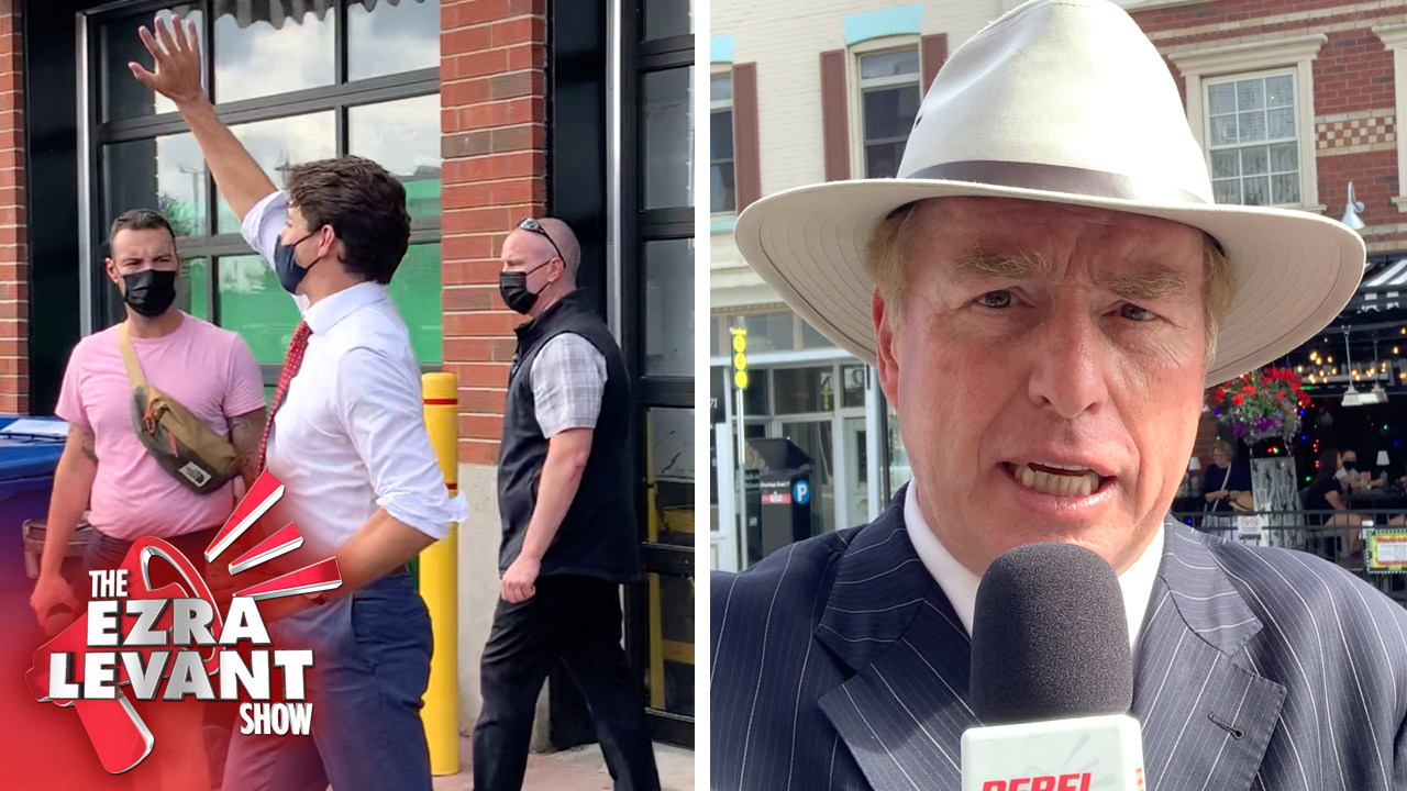 Trudeau, gov't-funded media types give the silent treatment at Barrie brewery stop