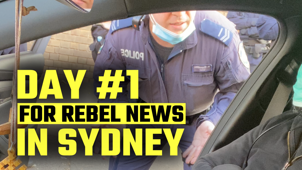 Police try and fail to 'move on' Rebel News Sydney on their FIRST day