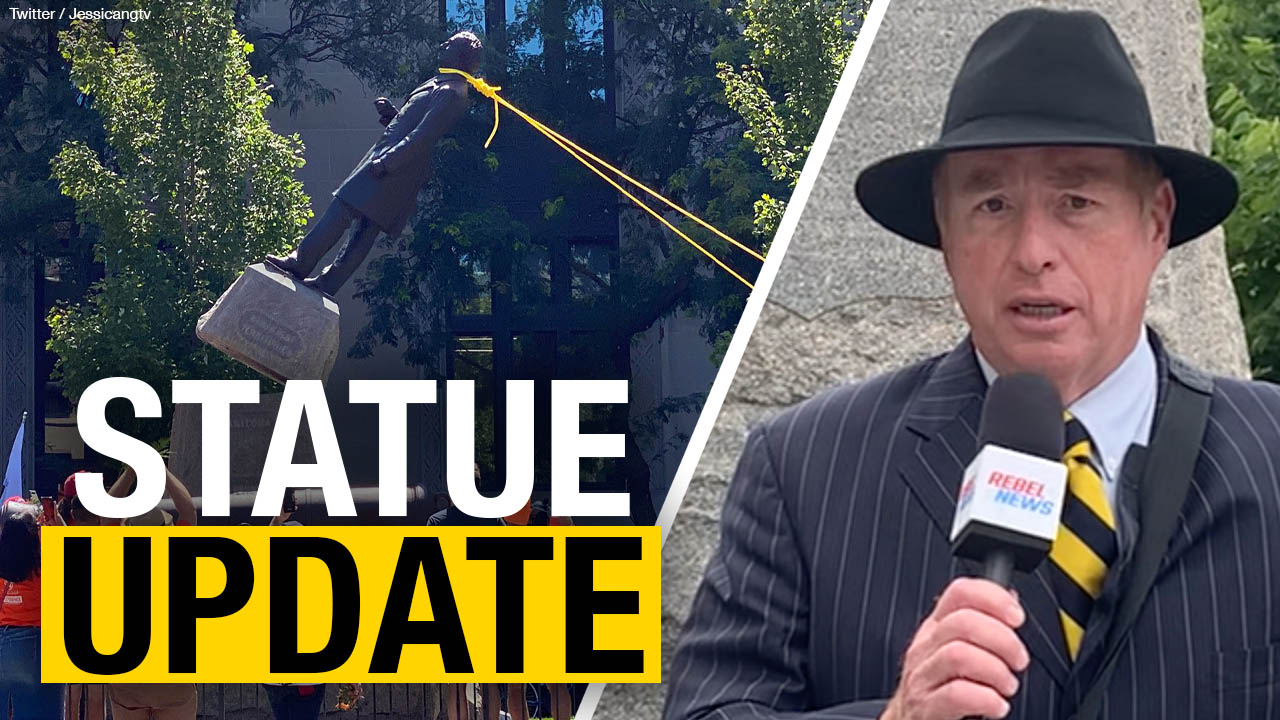 Journalism and peaceful protests illegal in Hamilton, Ont., but tearing down statues is just fine