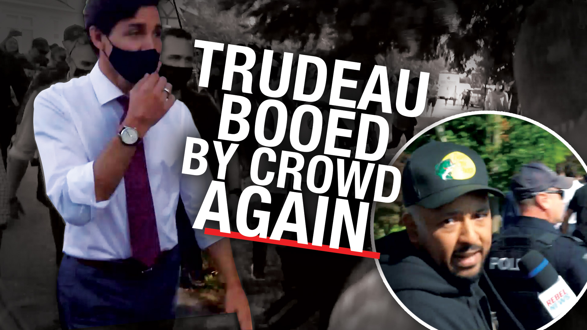 REPORT: Locals chase Prime Minister Trudeau out of British Columbia event