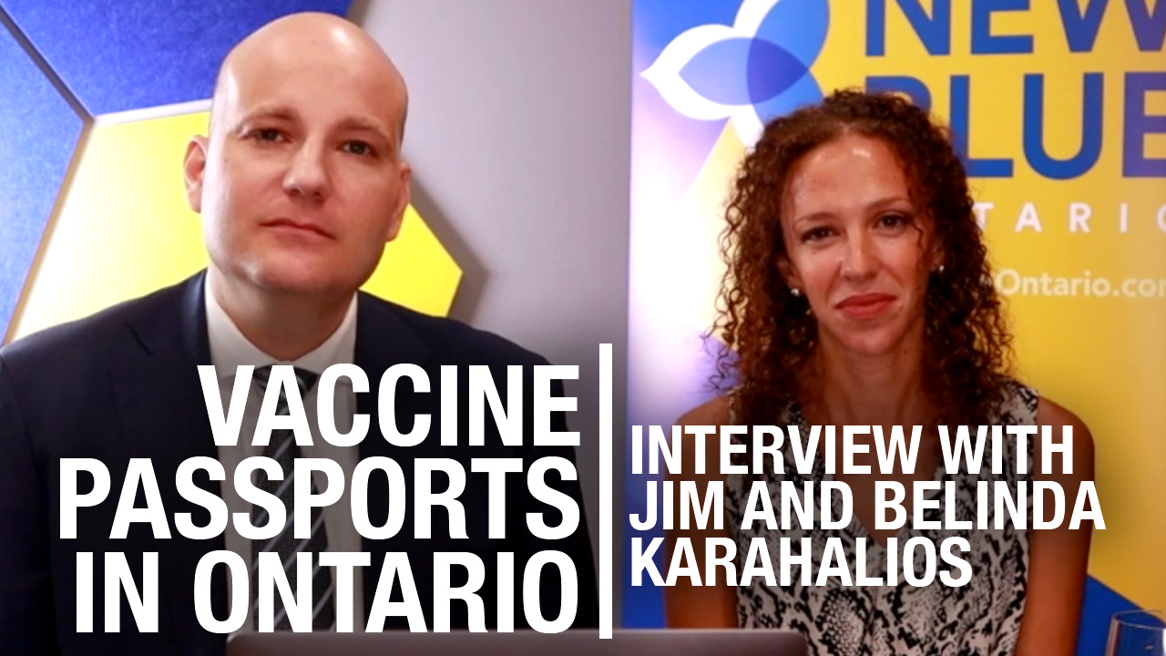 New Blue Party's Jim and Belinda Karahalios weigh in on Ford's vax pass flip-flop