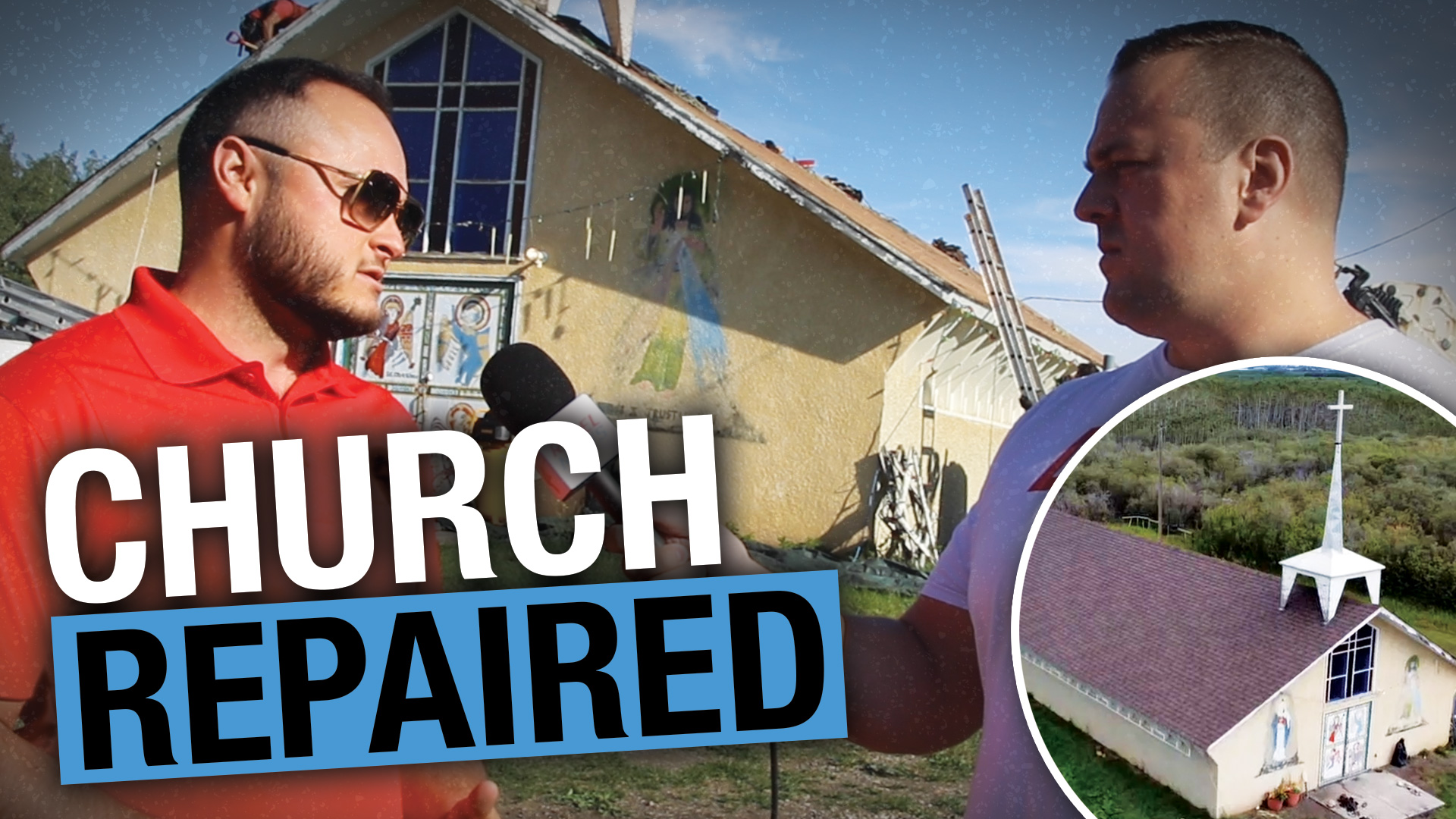 UPDATE: Rebel News Viewers REPAIRED The Church Roof on Tsuut'ina Nation!