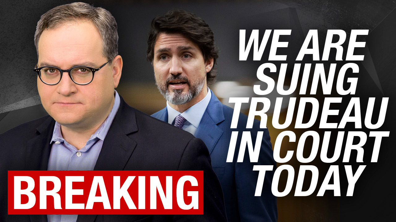 WATCH LIVE: We're suing Trudeau in Federal Court today