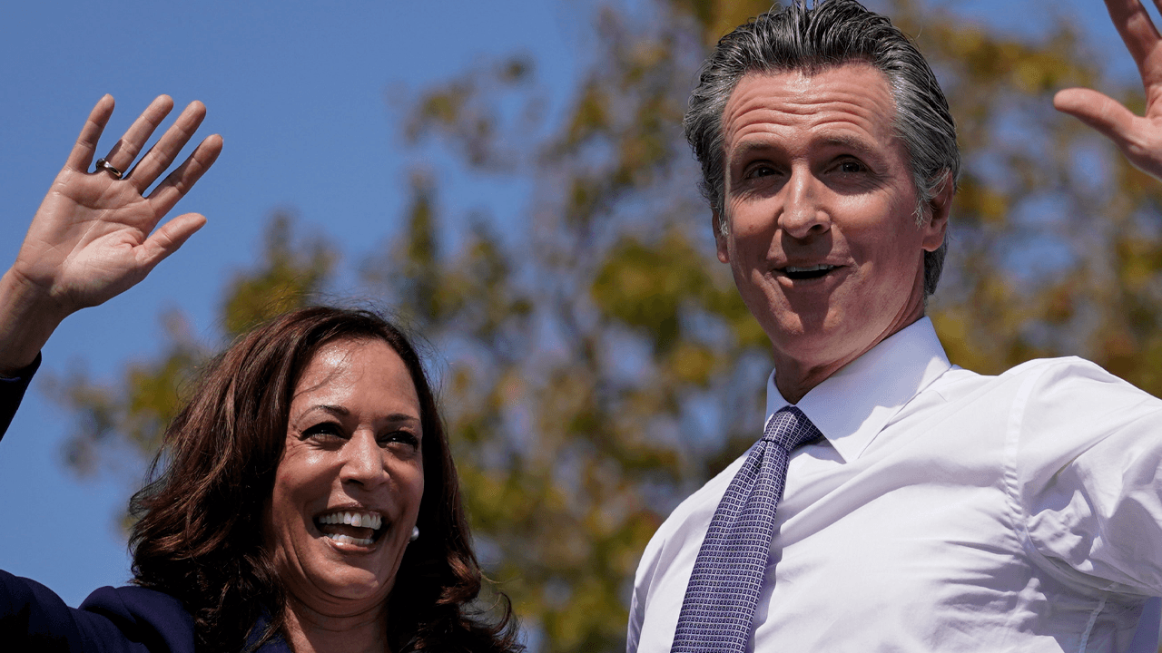 """Kamala Harris campaigns for Gavin Newsom, says """"we will show"""" red states"""