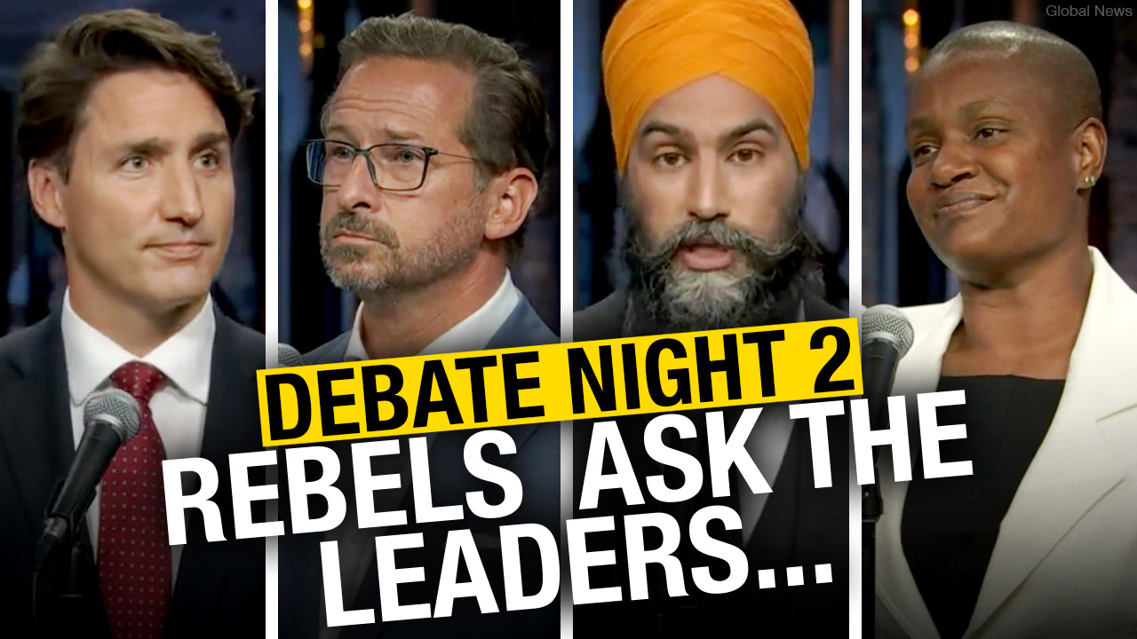 All of Rebel News journalists' questions from the English-language debate