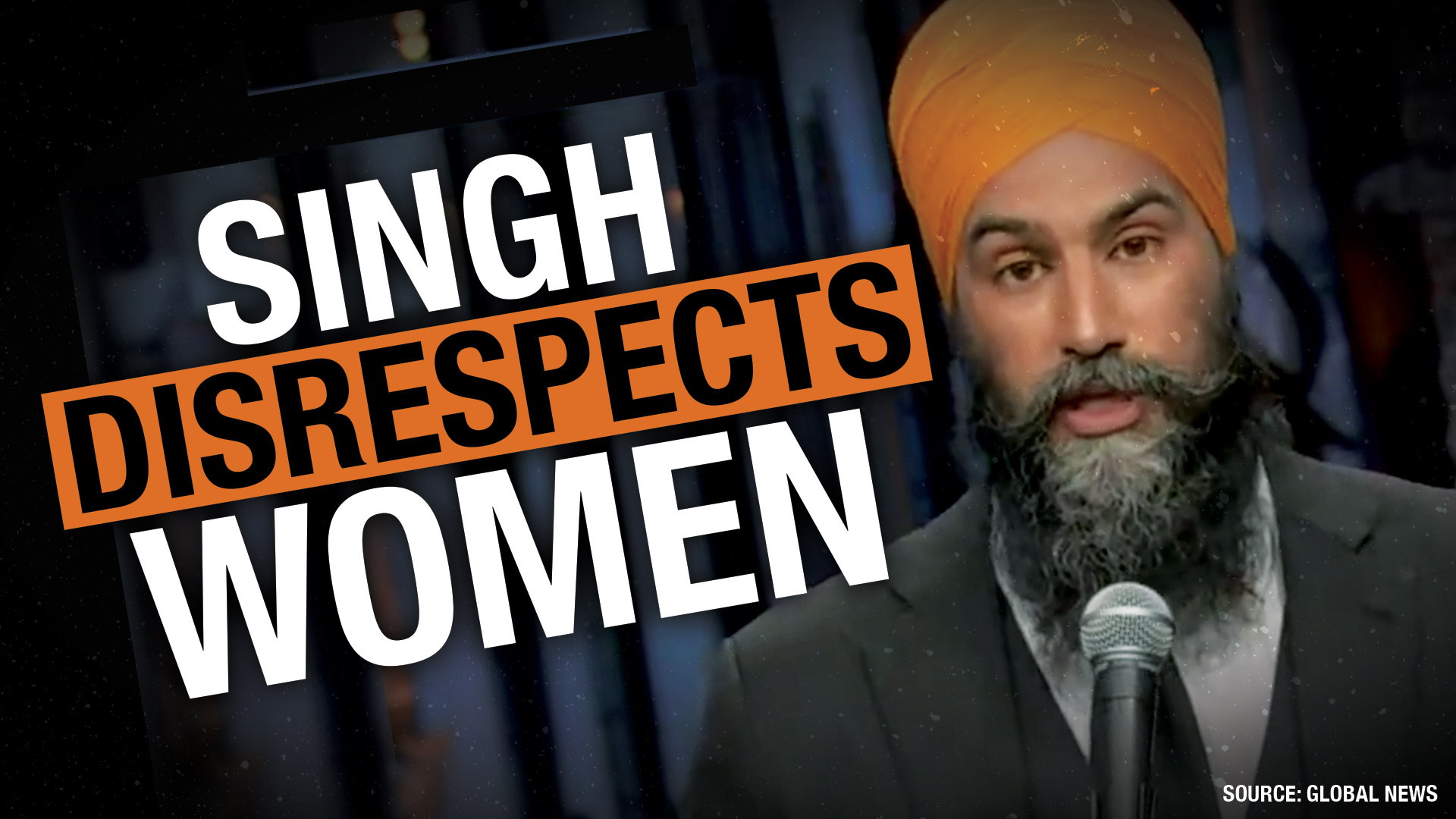 NDP leader Jagmeet Singh refuses to answer questions from any of Rebel's female journalists