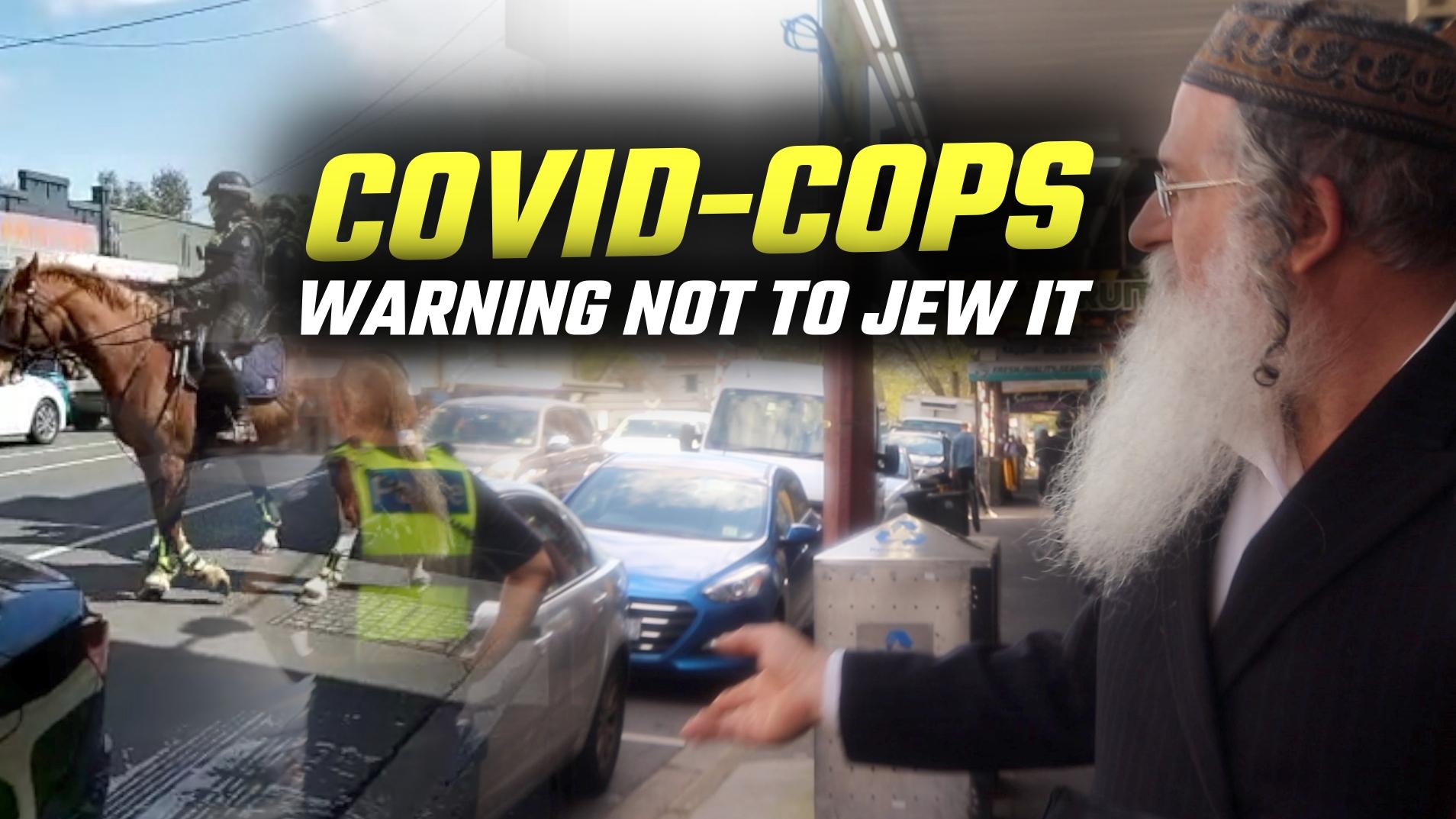 Mounted police TARGET Jewish neighbourhood on Yom Kippur in Melbourne