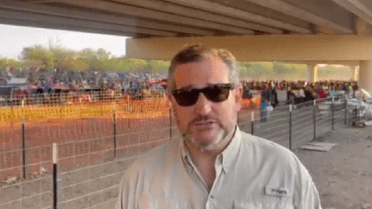 """""""The most horrific thing I've ever seen"""": Ted Cruz visits Texas bridge where over 10,000 illegal aliens are being held"""