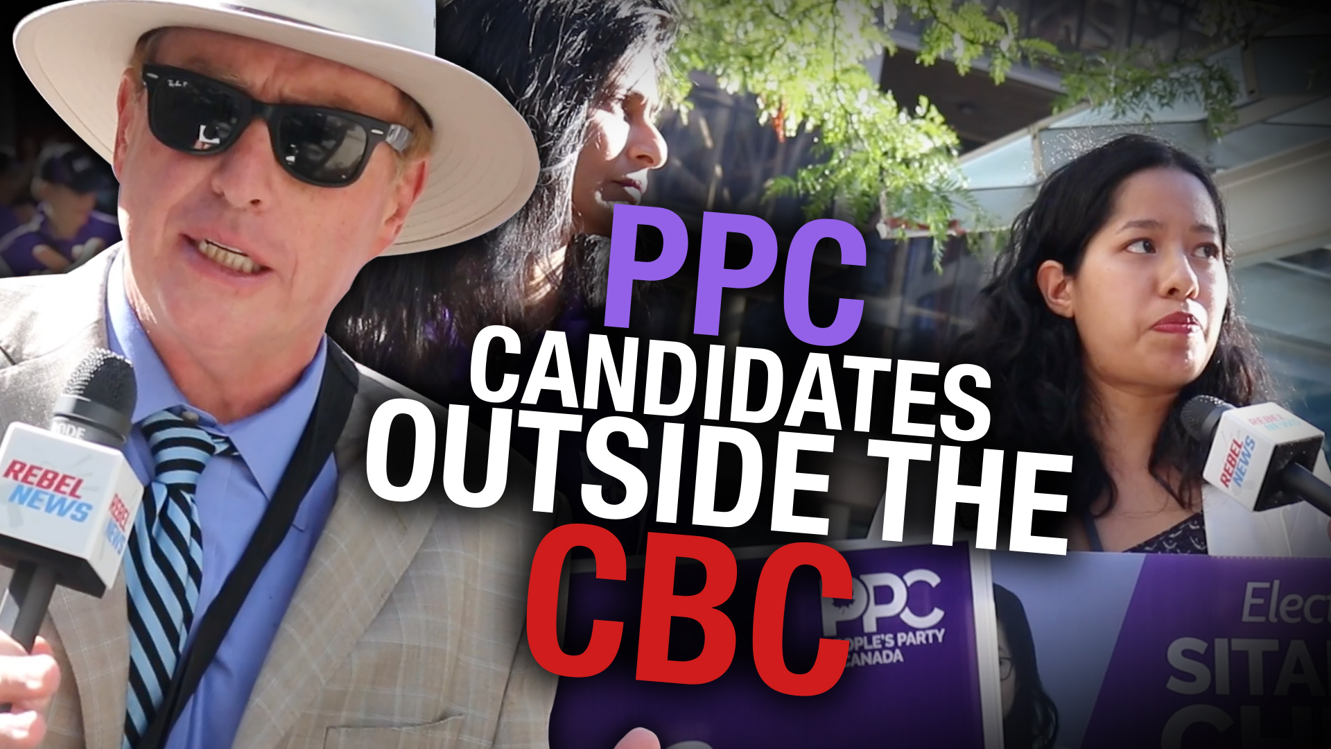 PPC leader Maxime Bernier stages big rally outside CBC headquarters in Toronto