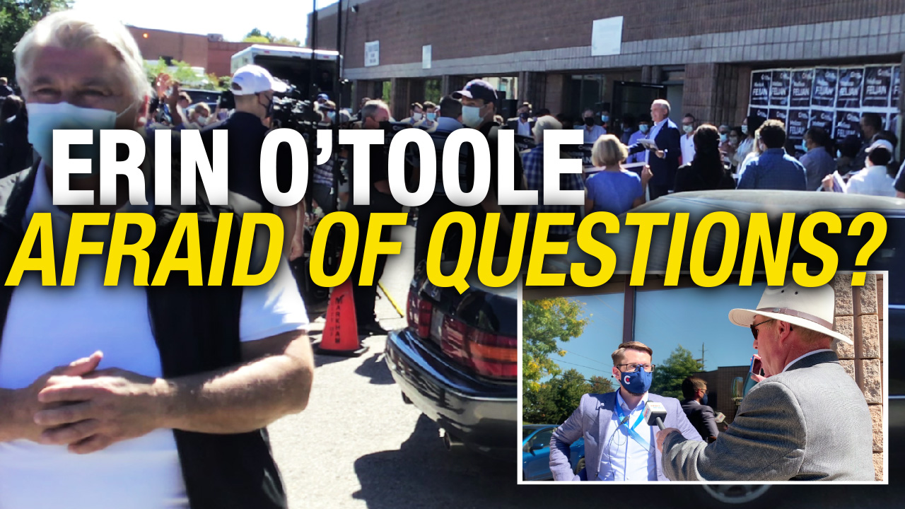 """Erin O'Toole so-called candidate of """"truth, duty, and valour"""" won't respond to Rebel News' questions"""