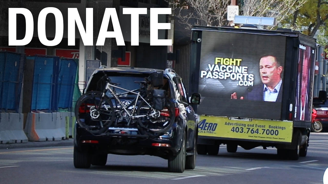 fight vaccine passports truck donation
