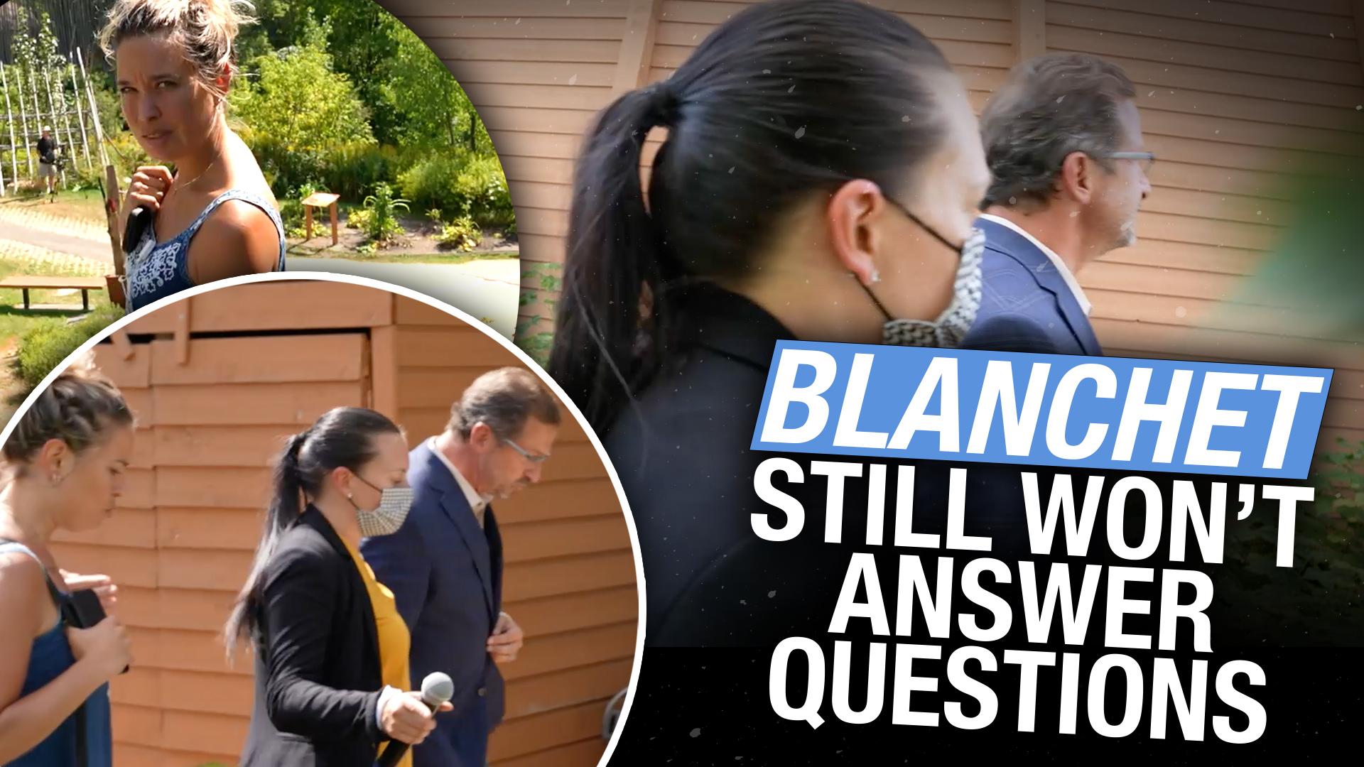 Yves-François Blanchet, leader of the Bloc Québécois ignores questions on vaccine passports